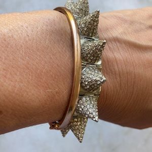 CC Skye Cone Studded Bracelet Pave Diamondlike